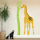 Giraffe Height Chart Wall Sticker