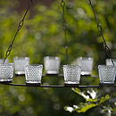 Shaker Metal Hanging Tea Light Chandelier