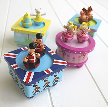 Wooden Dancing Pony Music Box