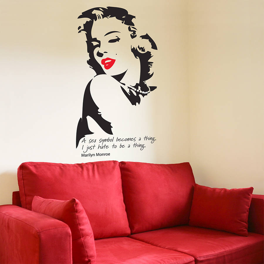 Marilyn Monroe Wall Sticker By The Bright Blue Pig - Wall decals marilyn monroe