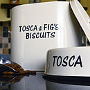 Personalised Enamel Dog Bowl And Tin Set