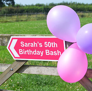 Personalised Party Sign - signs