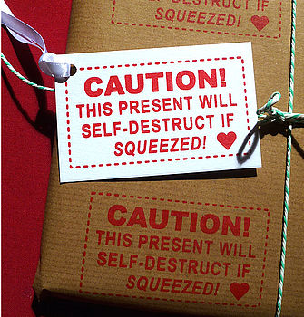 'No Squeezing!' Handmade Wrapping Paper
