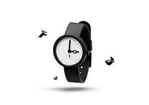 Classic Black Tie Minimalist Watch - watches