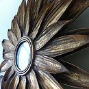 Gold Sunflower Mirror
