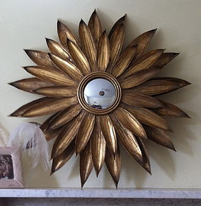 Gold Sunflower Mirror - mirrors