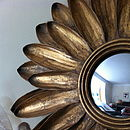 Gold Sunflower Mirror