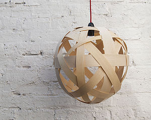 Clementine Wood Lampshade - office & study