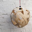 Clementine Wood Lampshade