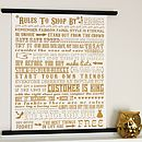 'Rules To Shop By' Metallic Gold Screen Print