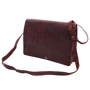 Leather Messenger Bag - men's accessories