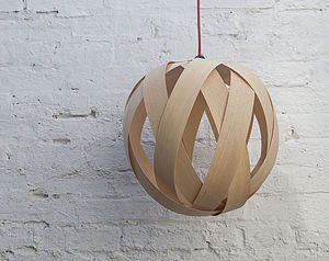 Rosebud Wood Lampshade - lighting