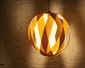 Rosebud Wood Lampshade - lamp bases & shades