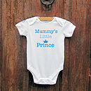 'Mummy's Little Prince' Royal Bodysuit