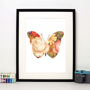 Butterfly Limited Edition Floral Print