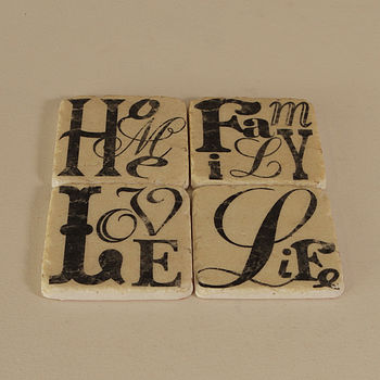 Family, Home, Love And Life Coasters