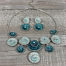 Turquoise Swirl Necklace & Earring Set