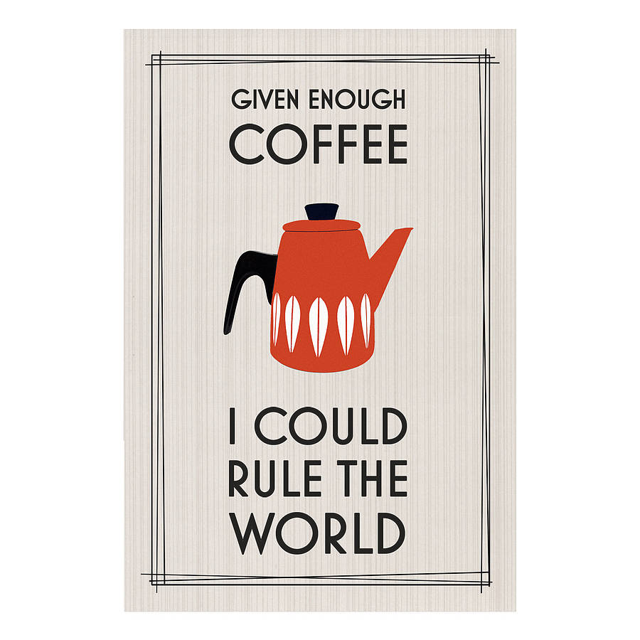 Retro Coffee Print By Of Life & Lemons