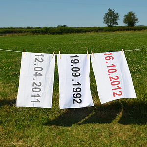 Special Date Tea Towels