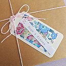 Set Of 10 Fabric Patch Gift Tags