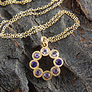 Gold And Amethyst Rosette Necklace