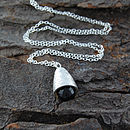 Sterling Silver Smoky Quartz Beehive Necklace