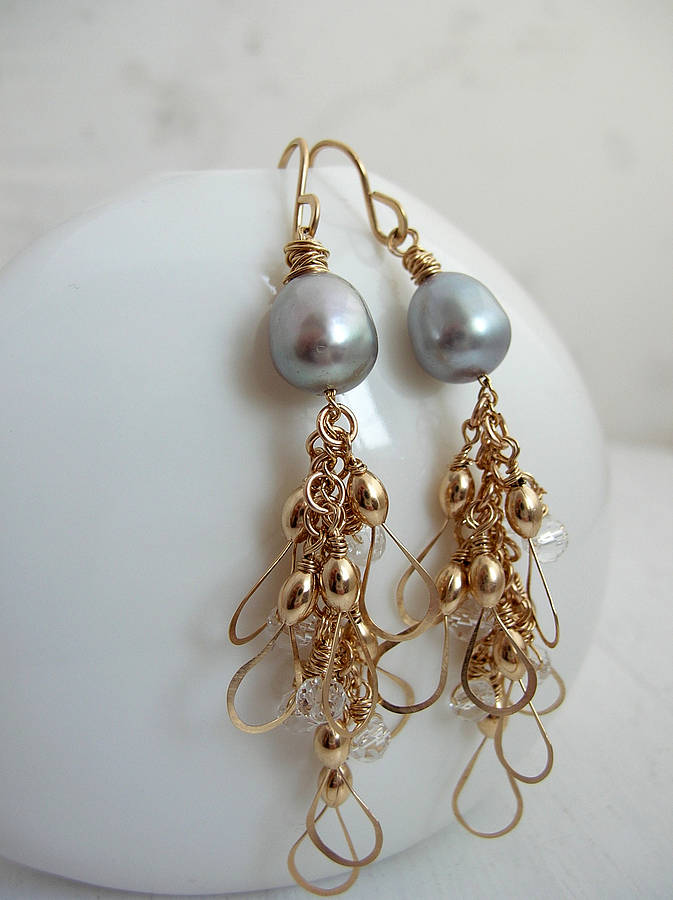 in cascade earrings gold classico ippolita