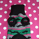 Moustache Knitted Dog Jumper