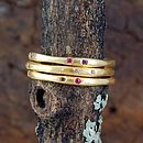 Gold And Gemstone Fine Stacking Ring
