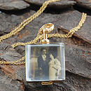 Gold Victorian Square Double Sided Locket