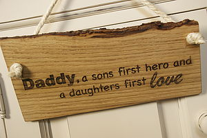 Daddy, Son's First Hero, Daughters First Love - outdoor decorations