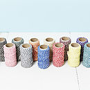 Coloured Bakers Twine Spools