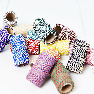 Coloured Bakers Twine Spools - mother's day cards & wrap