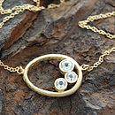 Gold Organic White Topaz Necklace