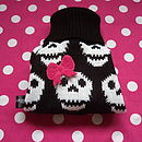 Skull Knitted Dog Jumper
