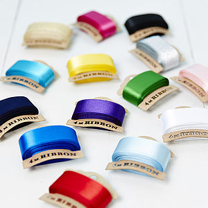Satin Ribbon Bobbins - ribbon & twine