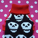 I Heart Skull Knitted Dog Jumper
