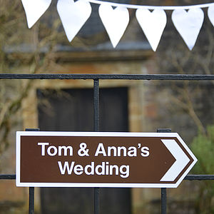Personalised Wedding Sign - room decorations