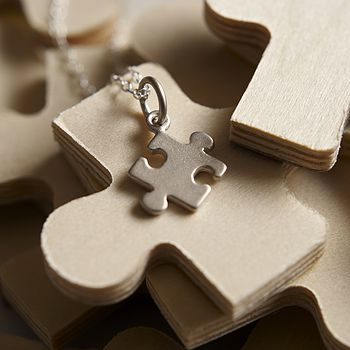 Jigsaw Necklace With Personalised Message