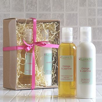 Organic Shower Gel & Body Lotion Gift Set