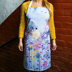 Quirky Floral Stems Apron