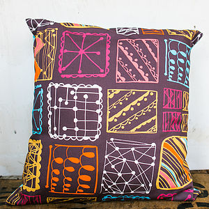 Doodle Squares Cushion Cover - patterned cushions