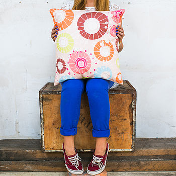 Retro Field Cushion Cover