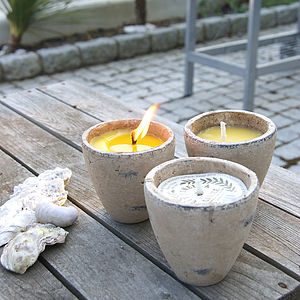 Citronella Candle Garden Pot - lighting