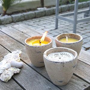 Citronella Candle Garden Pot - lighting