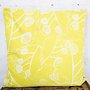 Ghost Leaves Large Cushion Cover Back