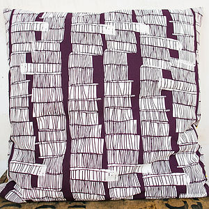 Sketchy Stems Large Cushion Cover - bedroom