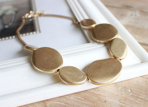 Gold Pebble Necklace - necklaces & pendants