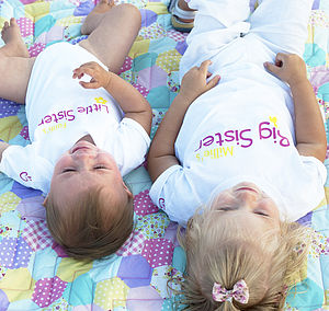 'Big Sister Little Sister' T Shirt Set - personalised