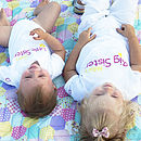 'Big Sister Little Sister' T Shirt Set
